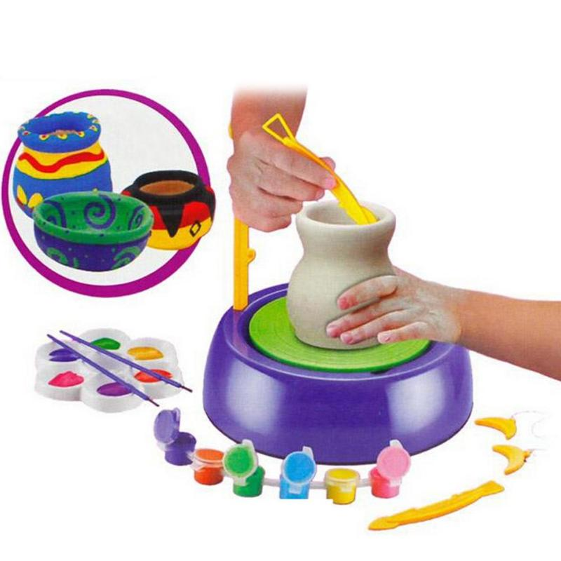 DIY Toy Ceramic Workshop Hand Made Ceramic Ornament Children's Electric Pottery Machine Scope Of Application Primary School