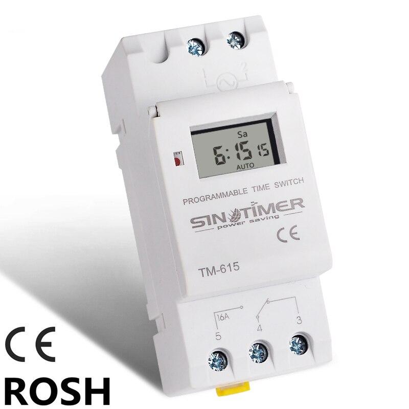 Interruptor de temporizador Digital programable de 220V, Control de tiempo multifunción, temporizadores de controlador de ahorro de energía Ultra grande, pantalla de 3