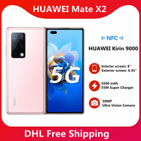 STOCK ! HUAWEI Mate X2 5G SmartPhone 8 Inch Fold Screen OLED Kirin 9000 Octa Core 55W SuperCharge NFC 50MP Main Camera 2