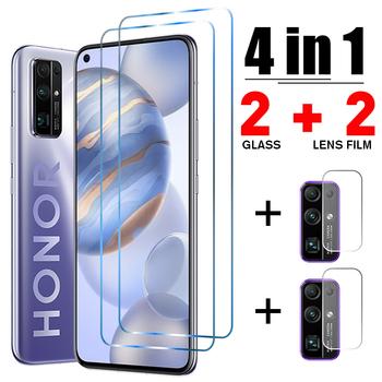 Szkło hartowane 4w1 szkło hartowane dla honoru 30 20 Pro szkło telefoniczne dla Huawei Honor 10 Lite 10i 30i 9 30s 20e 20i ochraniacz ekranu tanie i dobre opinie ciaxy Przezroczysty TEMPERED GLASS FOLIA HD CN (pochodzenie) HD Hard Tempered Glass for Honor 9 Lite Camera Lens protector for Honor 10