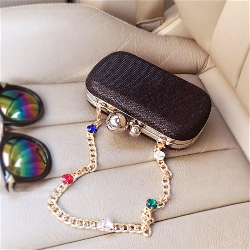 Pochette pour femmes sacs noir argent luxe sacs de soirée Diamand sacs à main PVC mariage mariée sac à main dames petit sac à bandoulière - 4