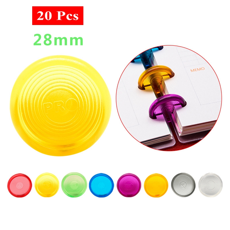 20Pcs 28mm Mushroom Hole Disc Binders For Notebooks/Planner Diy Colorful Loose Leaf  Binding Rings Discbound Discs CX19-004