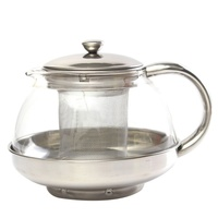 800ml Stainless Glass Teapot Loose Infuser Coffee Tea Leaf Herbal Decor|Teapots|   -