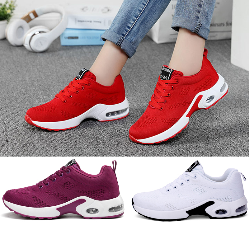 Sports Shoes Running Sneakers Air Cushion Fashion Outdoor Mesh Lace Women Trail Spring2020 Fits