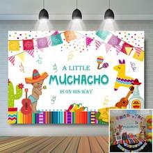 Fournitures de banderole pour fête prénatale, arrière-plan coloré pour petit garçon, drapeau, fête mexicaine, fête prénatale
