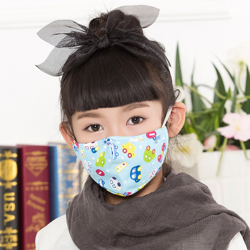 Cartoon Cute PM2.5 Anti Allergy Dust Mask Mouth Face Mask For Kids Cotton Masks