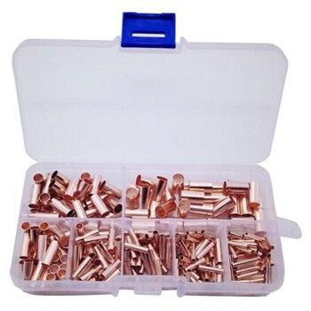 250 個スモール銅管コンビネーション接続管箱入り毛細管 Cropper 穴接続パイルフィッティングハードウェア技術とソフトウェア -