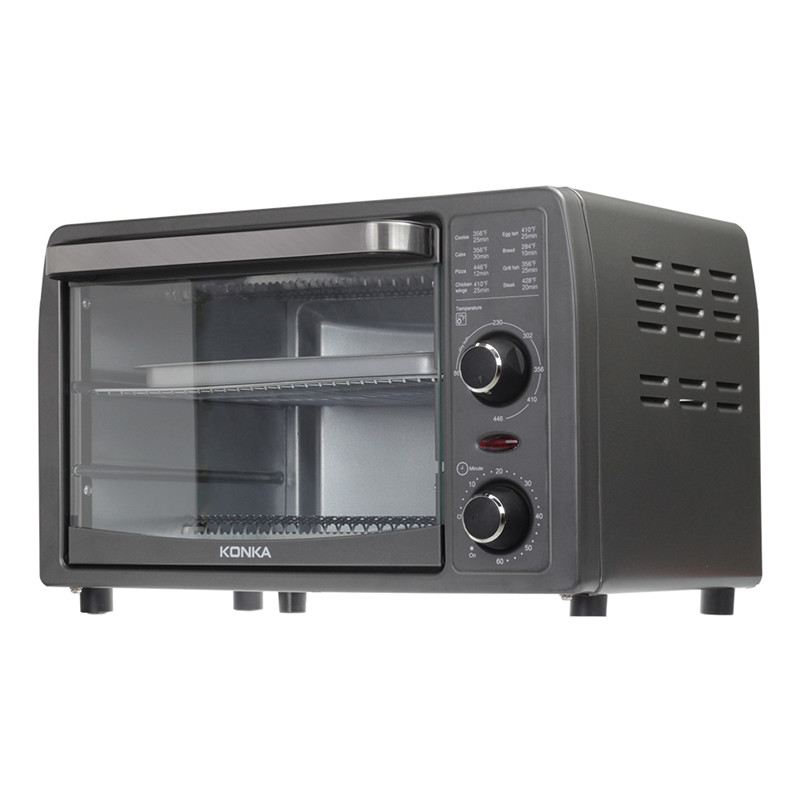 Konka 13l multifuncional casa forno elétrico durável mini sincronismo inteligente cozimento/frutas secas/churrasco pão de cozimento
