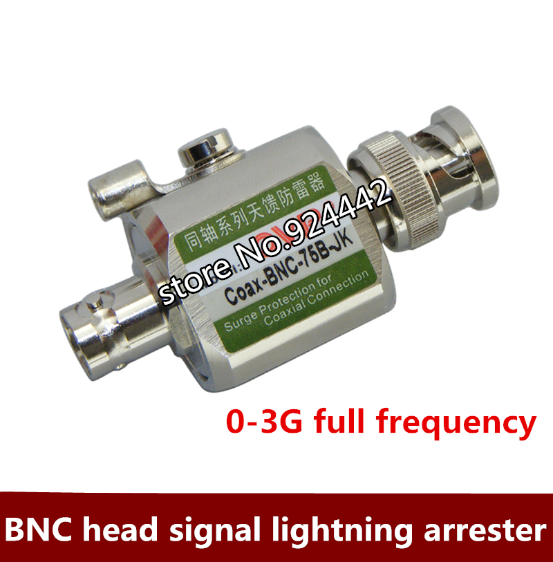 BNC Head Antenna Feed Signal Lightning Protection Device 0-3G Full Frequency Anti-surge Protector