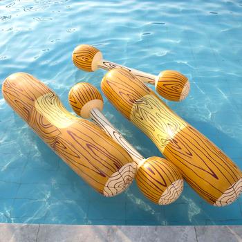 Sporty wodne 4 sztuk zestaw pływanie pływający w basenie s dla dorosłych sporty wodne zderzak fajna zabawka gra pływanie pływający w basenie jeździć basen dmuchany tanie i dobre opinie HAIMAITONG CN (pochodzenie) WOMEN Inflatable Float