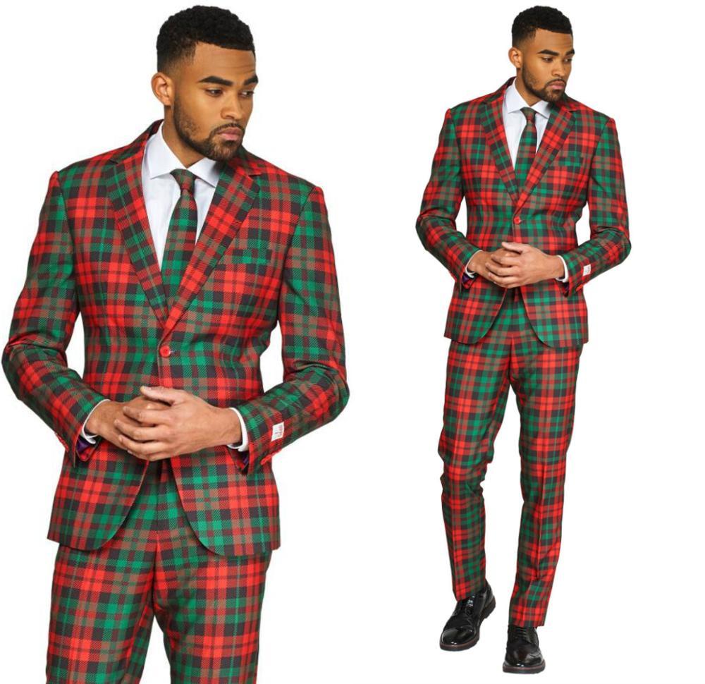 Plaid Mens Suits 2 Piece Peaky Blinder Classic Slim Fit Costume Vintage Suit Jacket Pants Customize African Wedding Tuxedos