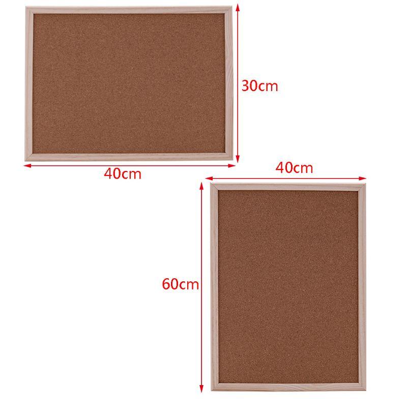 40x60cm Cork Board Drawing Board Pine Wood Frame White Boards Home Office Decorative B