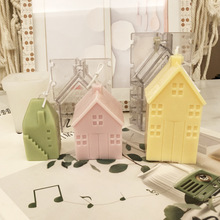 Small House Villa Wooden House Silicone Mold Scented Candle Diy Acrylic Mold Candle Molds for Candle Making Plaster Mold