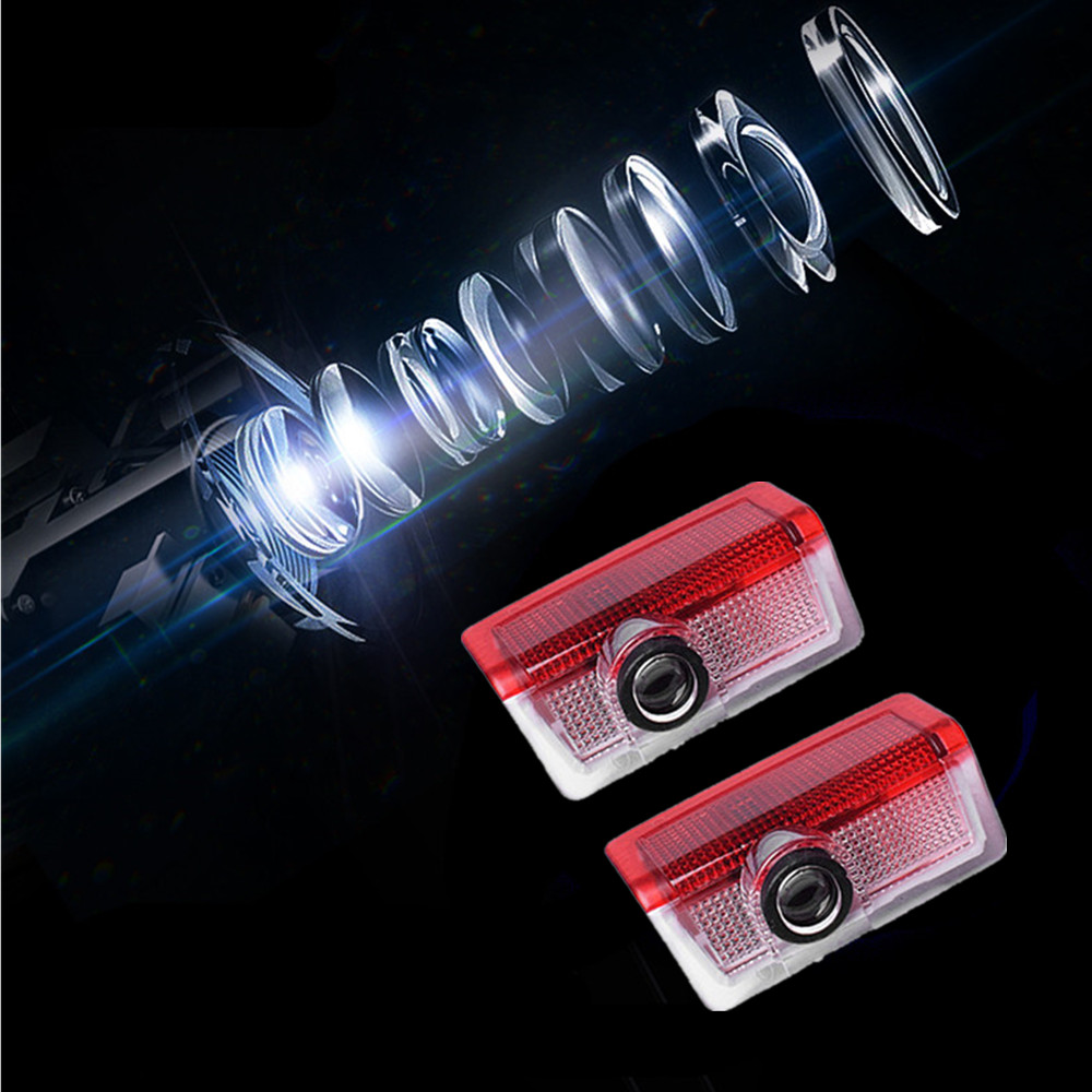 2pcs LED Logo Door Welcome Projector Light Car Styling For Mercedes Benz AMG A C E M Class W205 W212 W166 4MATIC A180 C200 W176