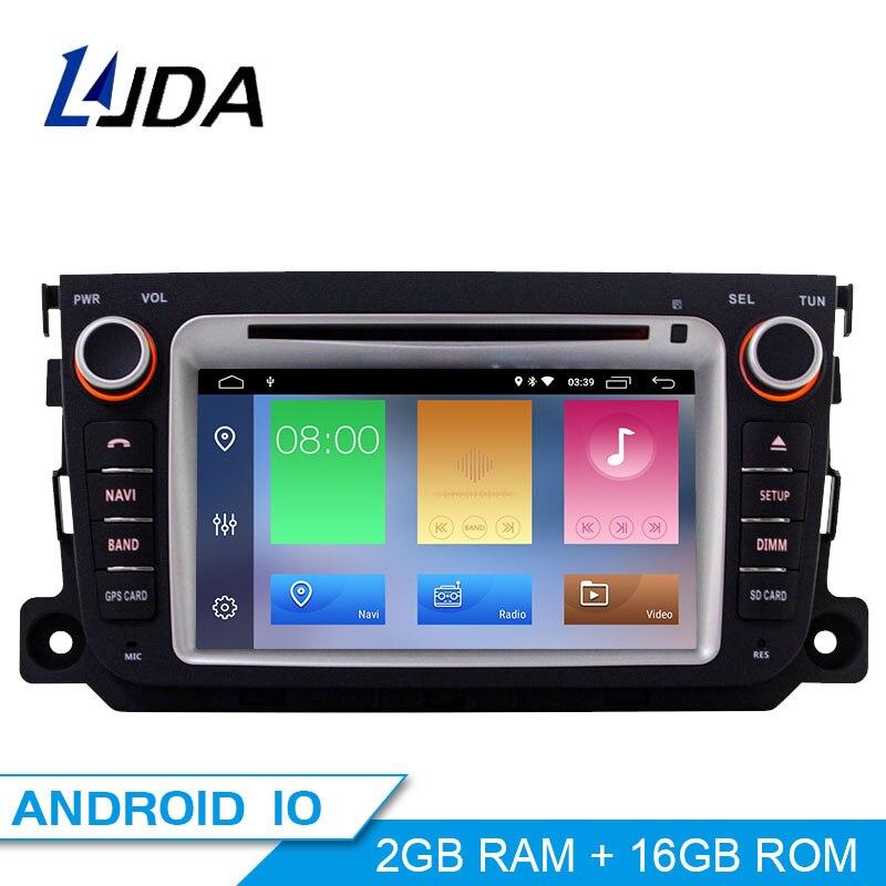 LJDA Android 10.0 lecteur DVD de voiture pour Mercedes Benz Smart 2010 2011 2012 2013 2014 lecteur multimédia de voiture GPS 2 Din Radio stéréo