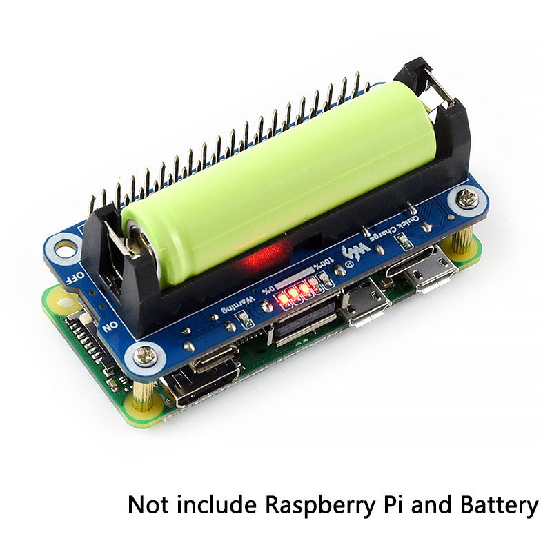 Raspberry Pi 4 Model B Lithium Battery Expansion Board SW6106 5V Output Two-way Fast Charge Mobile Power Bank For Pi 4B/3B+/Zero