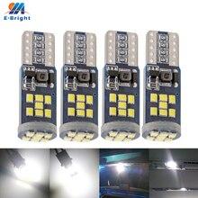 4 adet AC ve DC 12V 24V CANBUS araba ışık 2016 LED 18 21 SMD T10 W5W beyaz 6500K park boşluk İç dış plaka işık