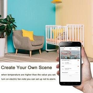 Image 3 - NEO Coolcam capteur de température humidité, alarme Wifi, sirène Tuya, compatible avec Google Home Assistant