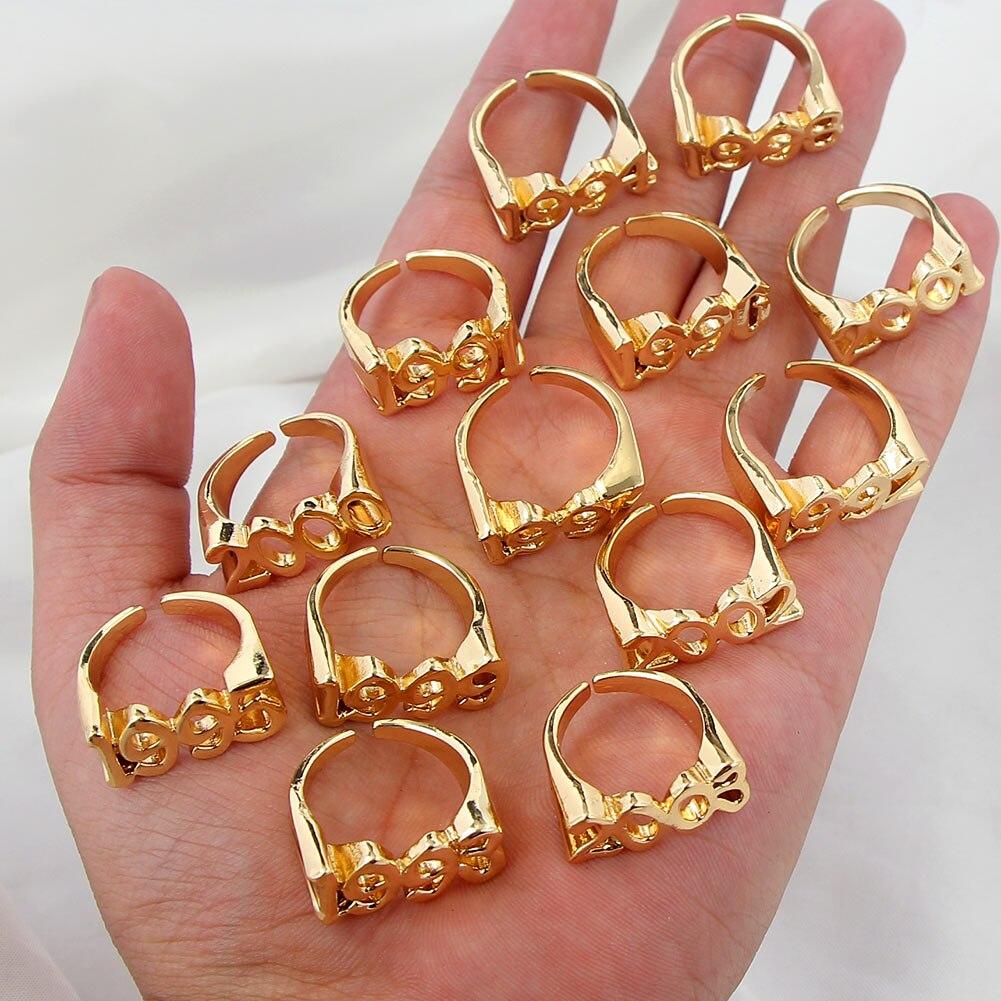 Женские кольца золотого цвета JUST FEEL 1991-2005, регулируемые открытые металлические подарочная цифра Anillos Muje, эффектные ювелирные изделия