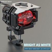 Spirit Beast Motorcycle LED Spotlight for Bmw Honda Yamaha Benelli Kawasaki Suzuki Super Bright 20W Lamp Flasher
