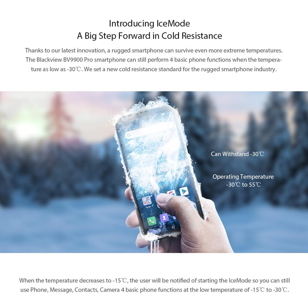 Blackview BV9900 Pro Helio P90 Octa Core 8GB 128GB 5.84 ''FHD + IP68 Wasserdichte Robuste Smartphone 48MP quad Kamera Handy