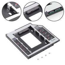 9.5mm SATA 2nd HDD SSD Hard Drive Caddy Adapter For DVD-ROM CD-ROM HDD SATAII SDD Hard Disk Bracket Aluminum Material