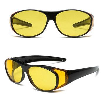 Krótkowzroczność przeciwsłoneczne okulary wędkarskie w nocy okulary Vision ochronne okulary noktowizor samochody motocykle sterowniki gogle tanie i dobre opinie Santtiwodo YZS906 Widzenie w nocy Myopia Mirror Adult Frame UV400 Windproof General 99 ( )