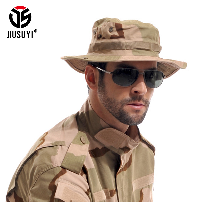 Multicam Tactical Airsoft Sniper Camouflage Bucket Boonie Hats Nepalese Cap SWAT Army Panama Military Accessories Summer Men 1