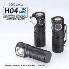 Skilhunt H04 H04R H04F RC Mini 1000 lumen USB magnetic wiederaufladbare LED scheinwerfer Zwei Angepasst UI falshlight umfassen 18350 BAT