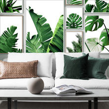 Fresh Palm Leaf Monstera Chlorophytum Wall Art Canvas Painting Nordic Posters And Prints Pictures For Living Room Decor