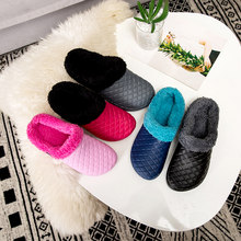 Unisex Winter Warm Furry Fur Slides Womens Home Anti-slip Slippers Couple Fashion Waterproof Flat Sandals(China)