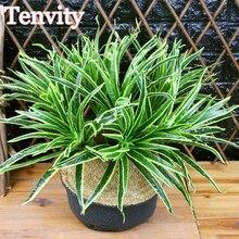 Künstliche Pflanzen Kunststoff Grüne Blätter Chlorophytum Gefälschte Pflanzen für Haus Garten Balkon Dekoration Hintergrund Außen Faux Gras