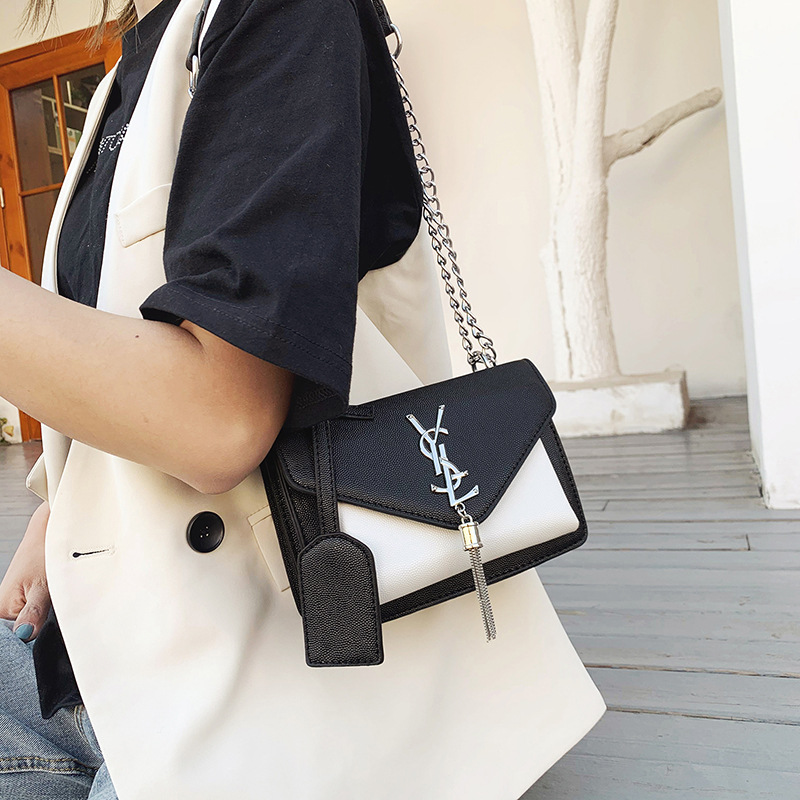 2020 New Fashion Chain Bag Caviar Messenger Bag Tassel Small Bag Women's Shoulder Bag Luxury Crossbody Bag