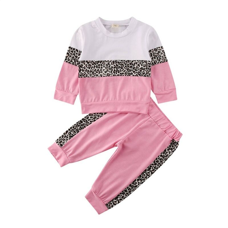 US Toddler Kids Baby Girl Tracksuit Clothes Long Sleeve Tops Pants 2PCS Outfits
