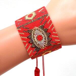 Image 5 - Браслеты SHINUSBOHO в стиле панк для мужчин и женщин, мексиканские браслеты на запястье, ювелирные изделия, женские браслеты 2020, популярные браслеты Миюки с изображением сглаза, женские браслеты