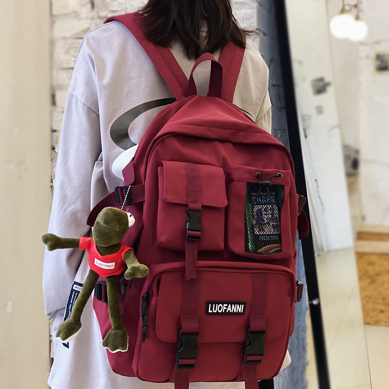 DCIMOR Multiple pocket Waterproof nylon Women Backpack High quality Insert buckle unisex Student schoolbag Lovely Book Mochilas