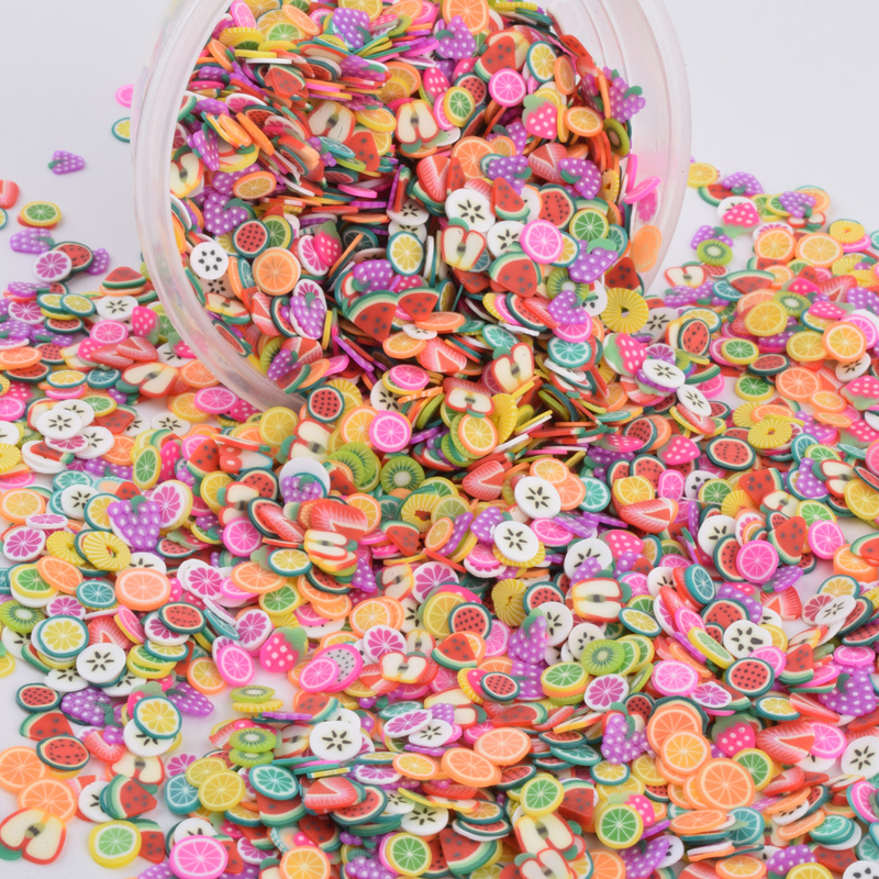 Craft Charms Fruit-Slices Diy-Supplies Clay Sprinkles Nail-Art Education-Toys Polymer title=