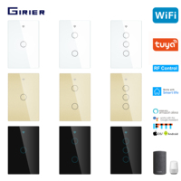 Wifi Wall Touch Switch  Smart RF Light Switch US 1/2/3 Gang Tuya  App Voice  Wireless Remote Control Support Alexa Google Home Smart Remote Control     -