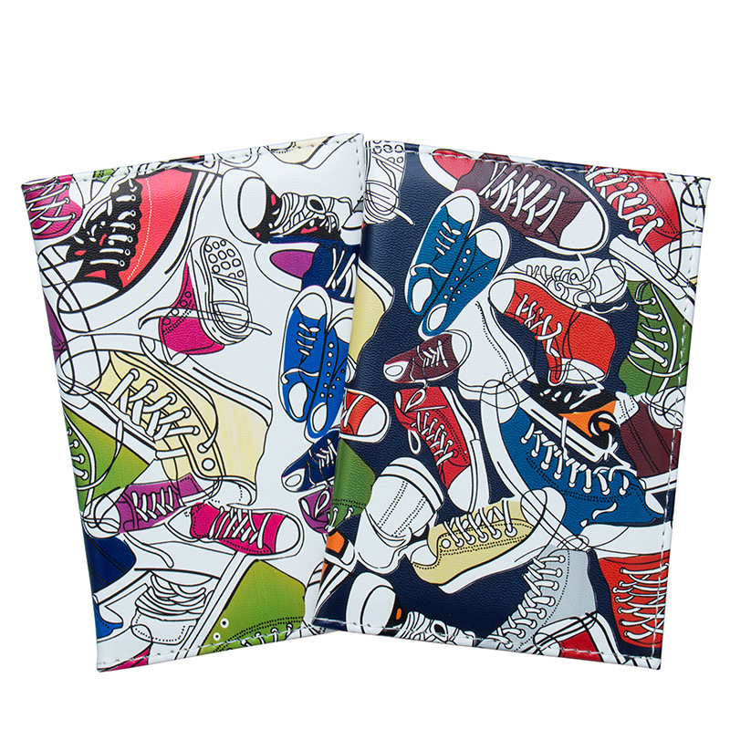 Zoukane Printed Travel Shoes Canvas Shoes Passport Cover PU Leather Case ID Holder Travel Accessories Passport Wallet ZSPC35