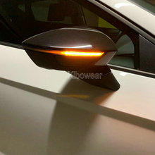 Dynamic LED Turn Signal Blinker for Seat Leon MK3 5F Arona KJ7 Side Mirror Indicator light 2013 2014 2015 2017