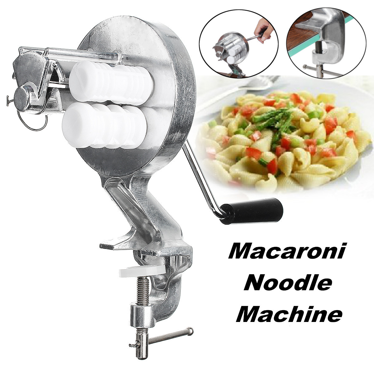 Manual Stainless Steel Noodle Maker Press Pasta Cutter Kitchen Machine Tool LY