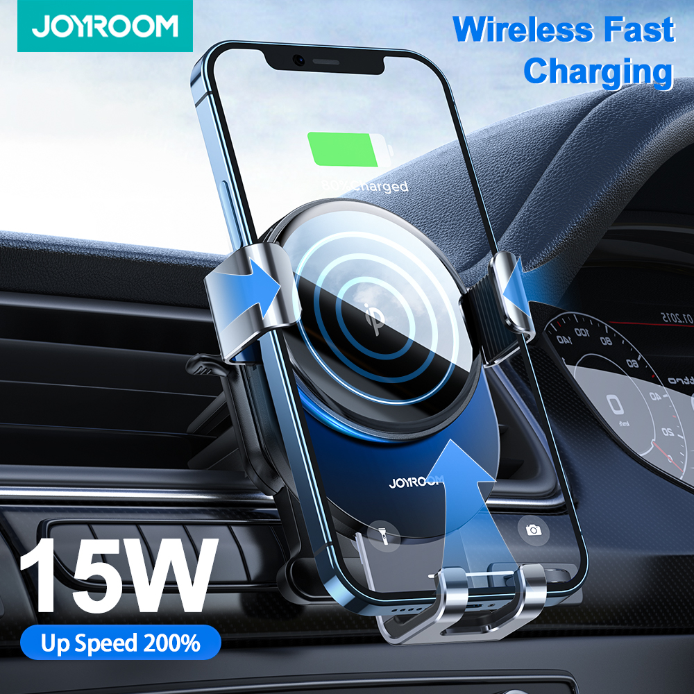 Joyroom Car Phone Holder Wireless Charger 15W Qi For iPhone 12 11 Pro Max Xiaomi Huawei Samsung S9 S10 Fast Charging Car Mount