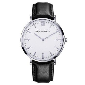 JT40 wzór strzały zegarki dla mężczyzn mężczyzna ultra cienki okrągła tarcza kwarcowy zegarek z proste zegarki ze skórzanym paskiem