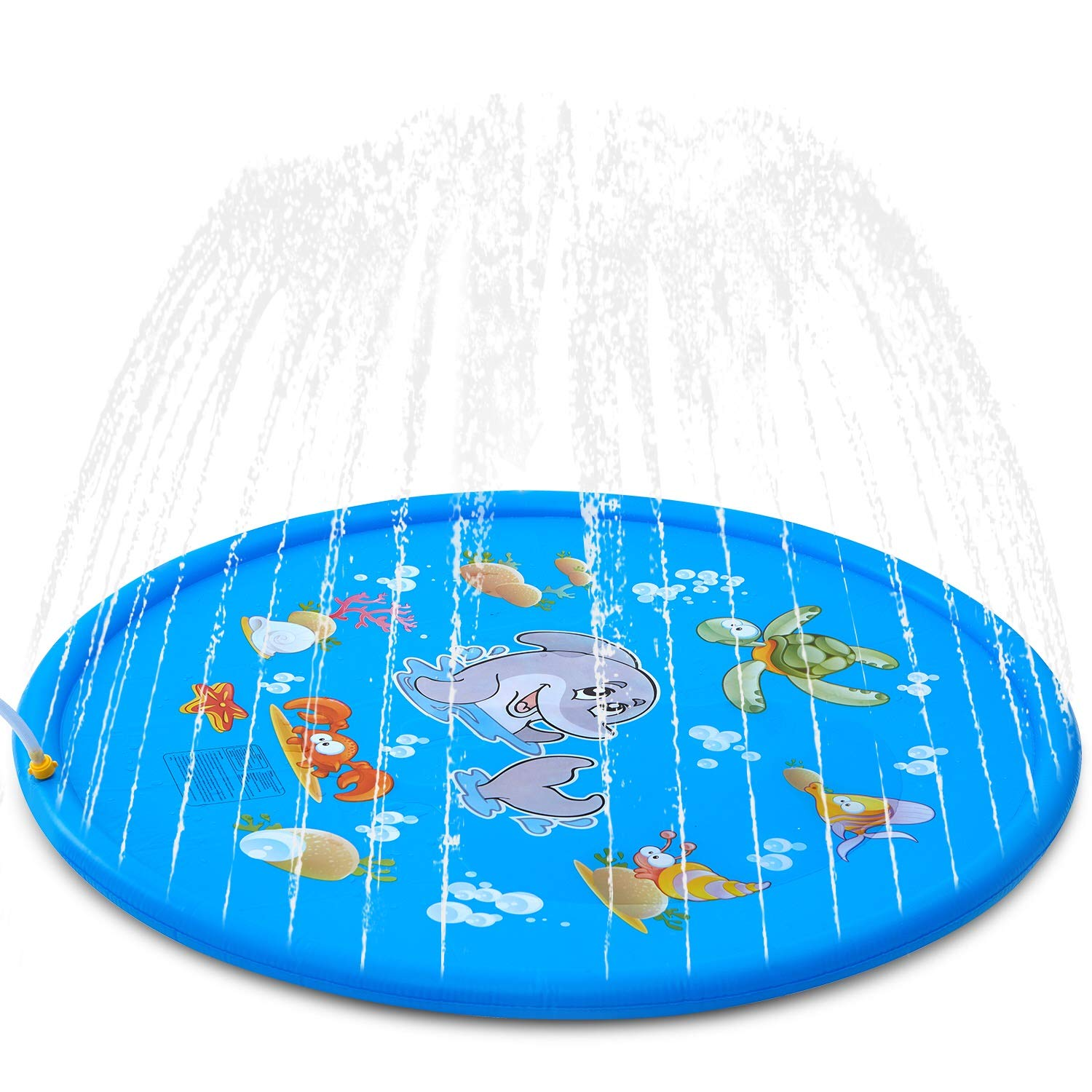 Splash Pad Kids Sprinkler Pad For Toodler Boys Girls Inflatable Shark Water Toys For Outdoor Upgraded Sprinkle Splash Play Mat