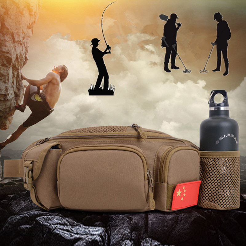 Metal Detector Digger Waist Bag Portable Waist Bag Pole Package Fishing Tackle Bag Metal Detecting Pouch Bag