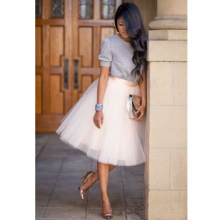Summer Skirts HOT Womens Casual Elastic High Waist Tutu Tulle Elegant Ladies
