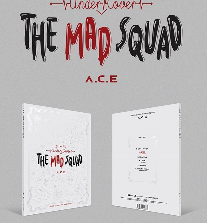 [MYKPOP]~100% OFFICIAL ORIGINAL~  A.C.E 3RD MINI ALBUM - UNDER COVER : THE MAD SQUAD , KPOP Fans Collection - SA19111903