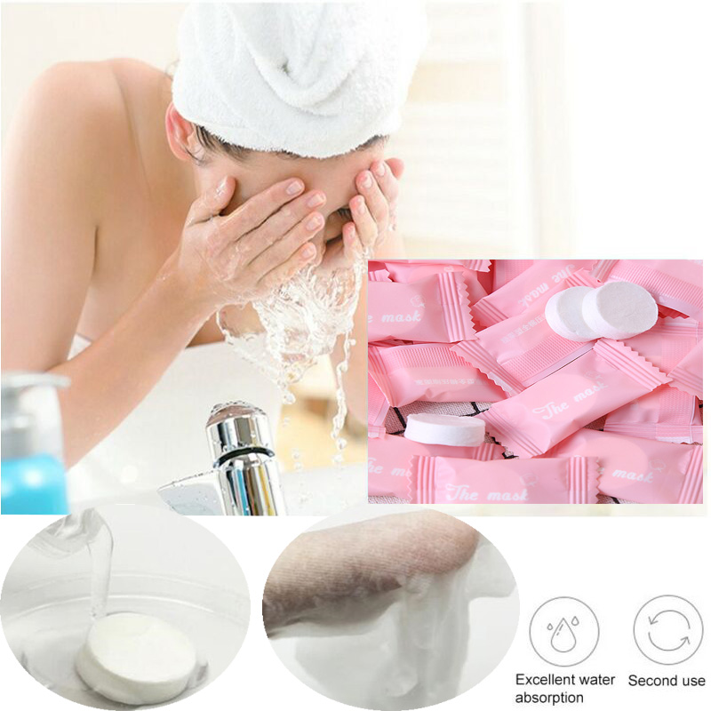Disposable Cotton Cleansing Towel Mask Paper Skin Care Products Natural Compression Wrap Mask  Female Makeup Facial Beauty Tools