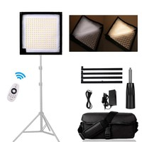 FL 1x1A LED Fabric Light 30x30cm Photography Video Lamp Foldable Studio Panel Light 3200K 5600K with Remote Control for Youtube