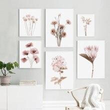 Настенная Картина на холсте с растениями и цветами картины для